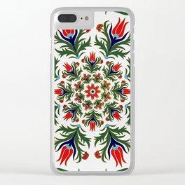 Turkish tulip - Ottoman tile 1 Clear iPhone Case