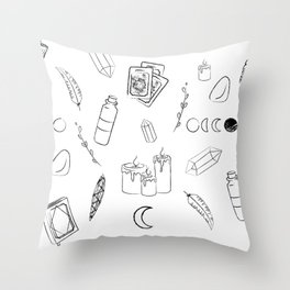 Witchy Stuff Throw Pillow