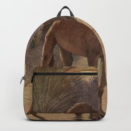Vintage Camel Painting (1909) Backpack