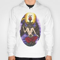 baphomet Hoodies featuring Baphomet by Sam Martinez