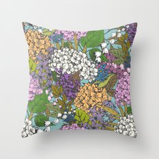 Floral Pattern 03 Throw Pillow