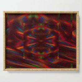 Cosmic Spiral Vortex Mirror Serving Tray