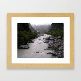 Glacial Peek-a-boo Framed Art Print