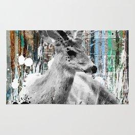 Deer in the Industrial Woods Rug