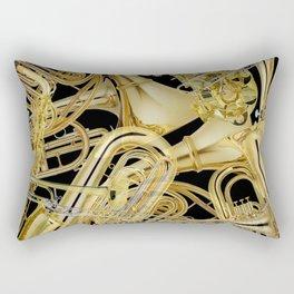Brass Musical Instruments Rectangular Pillow
