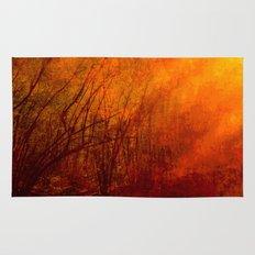 The burning world Rug
