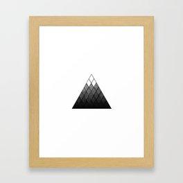 Geometric Snowy Mountain Framed Art Print