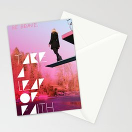 Take a leap of faith Stationery Cards