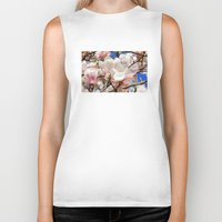 magnolia Biker Tanks featuring  Magnolia. by Assiyam