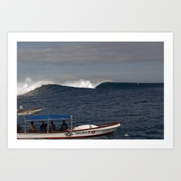 THE PADDLE OUT - CLOUDBREAK Art Print