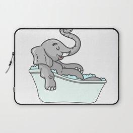 Bathtub elephant Laptop Sleeve