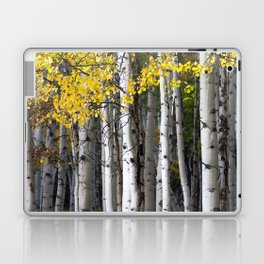 Yellow, Black, and White // Aspen Trees in Crested Butte Laptop & iPad Skin