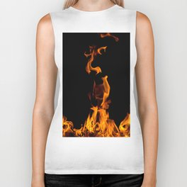 Fire flames on black Biker Tank