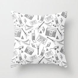 Livin in the 90s // Black & White Throw Pillow