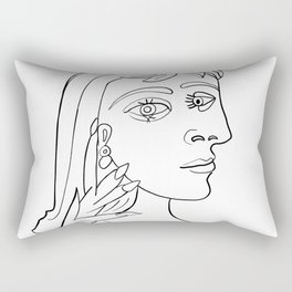 Picasso Woman's head #5 Lineart Rectangular Pillow