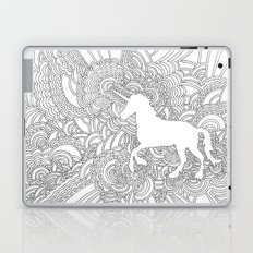 Unicorn Drawing Meditation Laptop & iPad Skin