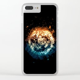 Burning Circle - Fire and Ice - Isolated Clear iPhone Case