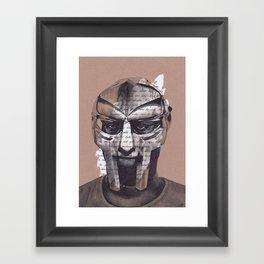 MF DOOM Portrait Framed Art Print