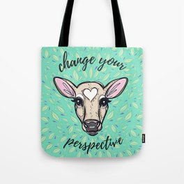 Change Your Perspective Tan Baby Cow Tote Bag