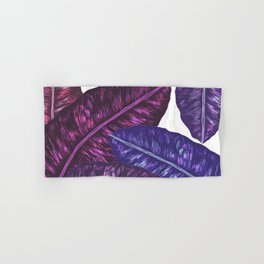Tropical Leaves - Ultra Violet 1 Hand & Bath Towel