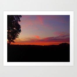 sunset hwy 13 Art Print