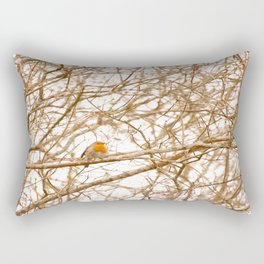 Robin In Early Spring #decor #society6 #buyart Rectangular Pillow
