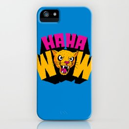 HAHA WOW COUGAR iPhone Case