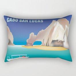Cabo San Lucas, Mexico - Skyline Illustration by Loose Petals Rectangular Pillow