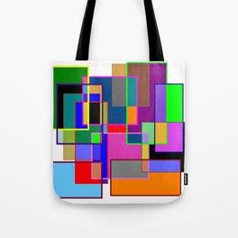 Colour collage white Tote Bag
