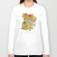 sydney Long Sleeve T-shirts featuring Sydney by Nicksman