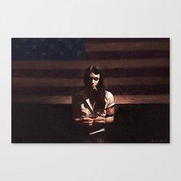 Lillie Mae - The American Girl Canvas Print