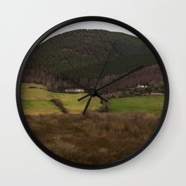 Little House, Large Mountain Wall Clock