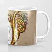 music notes Mugs featuring Key notes  by nicky2342