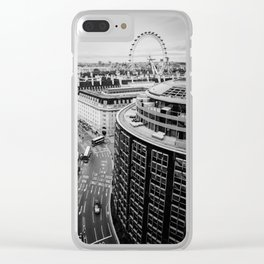 Black and White London City Clear iPhone Case