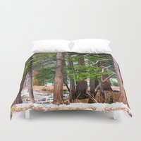forrest Duvet Covers featuring Forrest by Savannah Ault