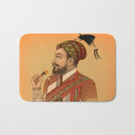 Indian Mughal with Flower Bath Mat