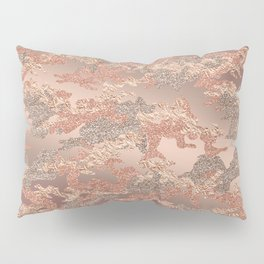 Pure Rose Gold Camouflage Pillow Sham