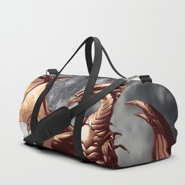 Mystical Dragon and Moon Fantasy Design Duffle Bag