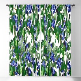 Blueberries and Ivy Blackout Curtain