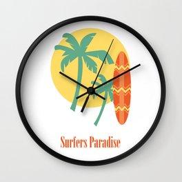 Surfers Paradise T-Shirt Wall Clock