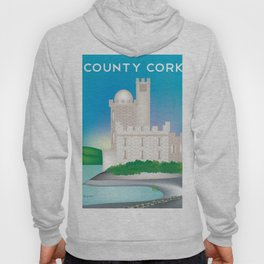 County Cork, Ireland - Skyline Illustration by Loose Petals Hoody
