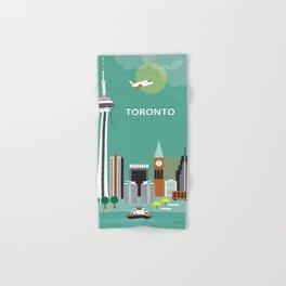 Toronto, Ontario, Canada - Skyline Illustration by Loose Petals Hand & Bath Towel