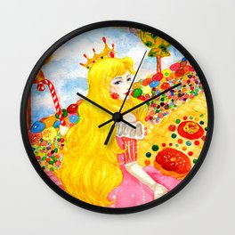 Candy Princess from Fairy Tales Wall Clock