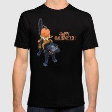 Rucus Studio Halloween Mischief Black Mens Fitted Tee 2X-LARGE