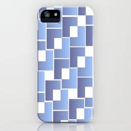 Blue Interlace iPhone Case