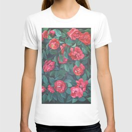 Camellias, lips and berries. T-shirt