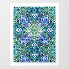 Peacock Summer Art Print