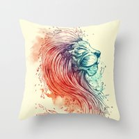 sea Throw Pillows featuring Sea Lion by Steven Toang