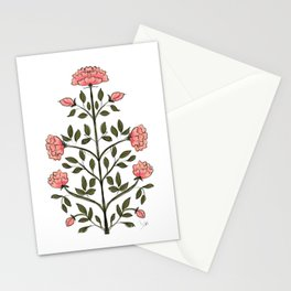 Indian Flower Motif Illustration - Rose  Stationery Cards
