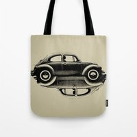 vw Tote Bags featuring VW Ying and Yang by Vin Zzep